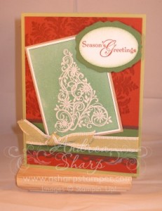 A unique color combination for a Christmas card
