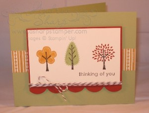 A CAS fall thinking of you card