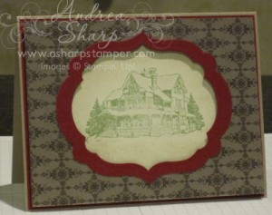 Framed Christmas Lodge