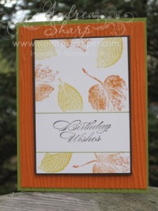 Foliage birthday wishes