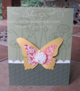 Butterfies and poppies are a beautiful combination