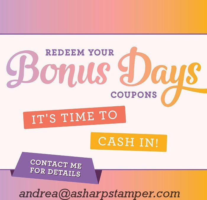 Cash In Bonus Days Coupons