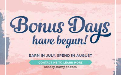 Bonus Days Again