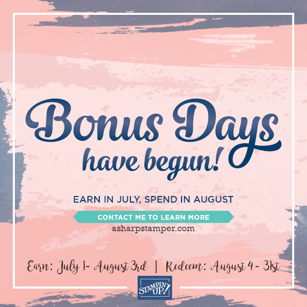 Bonus Days Again